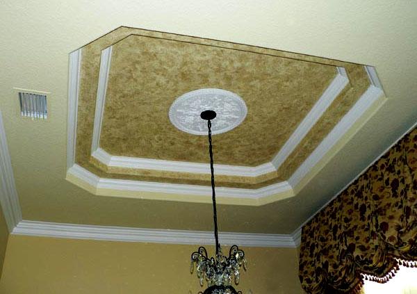 Дизайн покраски подвесного потолка