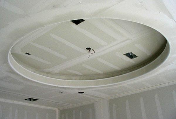 Круглый потолок своими руками