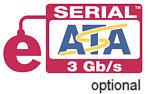 Schnelles 3 GB/s eSATA Schnittstellen optional